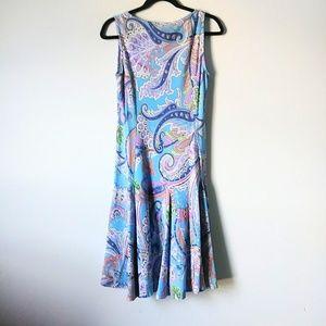 Lauren Ralph Lauren M Blue Floral sleeveless Dress